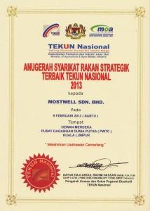 Anugerah Syarikat Rakan Strategik 2013 - TEKUN