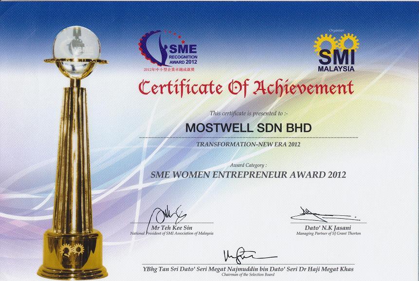 sme women entrepreneur award 2012