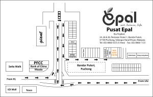 Peta Map HQ Mostwell Pusat Epal